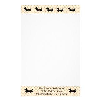 Papeterie Papier à lettres stationnaire de silhouette de