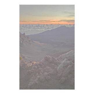 Papeterie Papier stationnaire de paysage rocheux de lever de