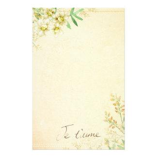 Papeterie Papier stationnaire floral naturel