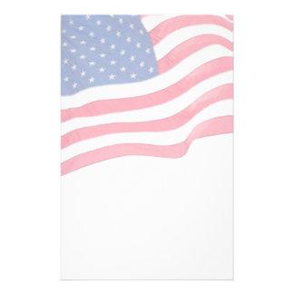 Papeterie patriotique de drapeau des USA