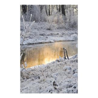 Papeterie Paysage de neige d'hiver de Noël