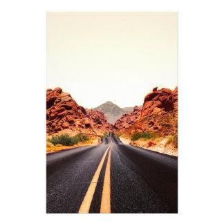 Papeterie Paysage de voyage de route de route de montagnes