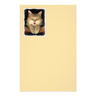 Papeterie Peinture folle de chat - art original mignon de