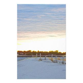 Papeterie Phare au coucher du soleil