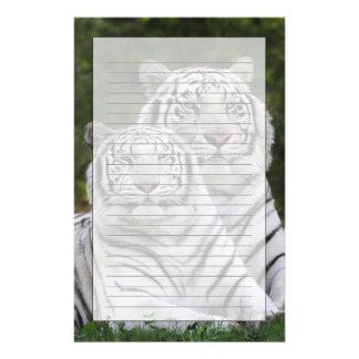 Papeterie Phase blanche, tigre de Bengale, Tigre