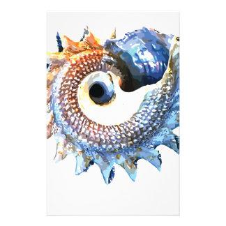 Papeterie Pièce en t en spirale d'or de yoga de coquillage