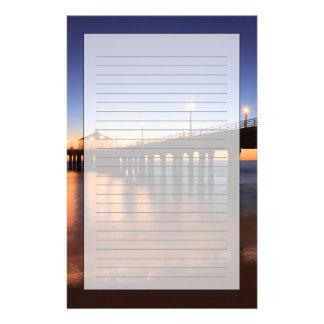 Papeterie Pilier de Manhattan Beach au coucher du soleil, la