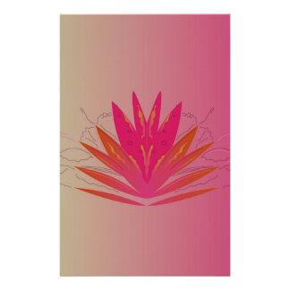Papeterie Pinkorange de Lotus