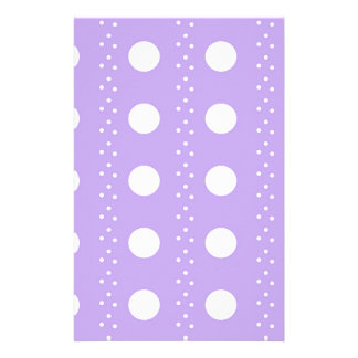 Papeterie Point de polka blanc sur le pourpre