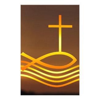 Papeterie Poissons et croix chrétiens