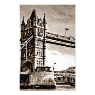 Papeterie Pont vintage de tour de Londres de sépia