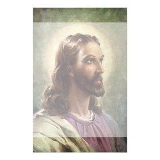 Papeterie Portrait religieux vintage, Jésus-Christ avec le