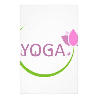 Papeterie Poses de YOGA avec un lotus rose