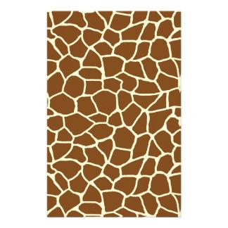 Papeterie Poster de animal sauvage de motif de girafe