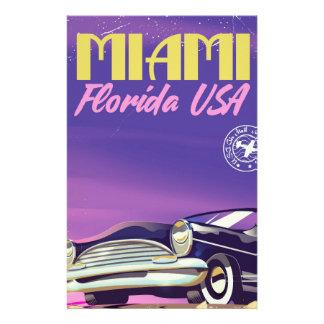 Papeterie Poster vintage de Miami la Floride Etats-Unis