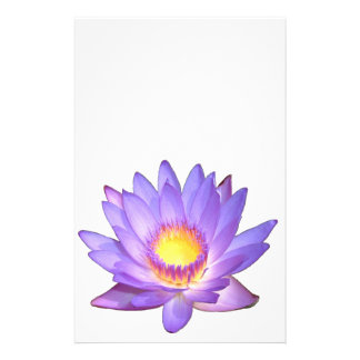 Papeterie pourpre de fleur de Lotus