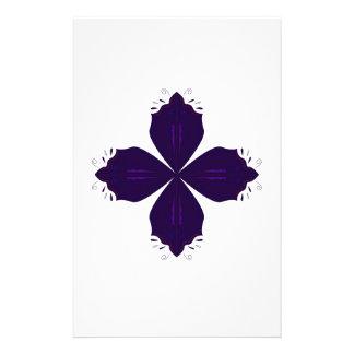 Papeterie Pourpre de Lotus sur le blanc