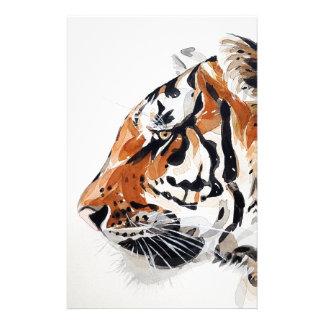 Papeterie Profil d'aquarelle de peinture de nature animale