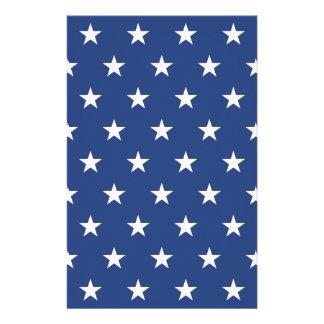 Papeterie Profil sous convention astérisque bleu et blanc