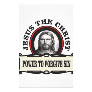 Papeterie puissance de pardonner le jc de péché