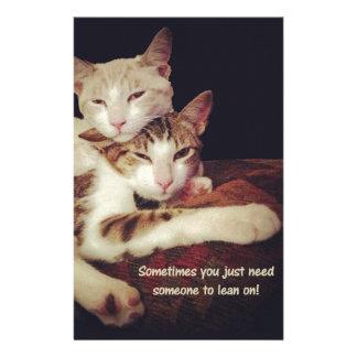 Papeterie Quelqu'un à se pencher sur des chats de Kitty