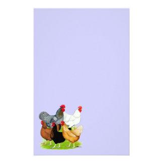 Papeterie quintette Sexe-lié de poulets