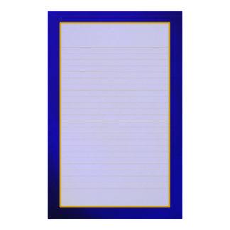Papeterie rayée par amende bleue de saphir