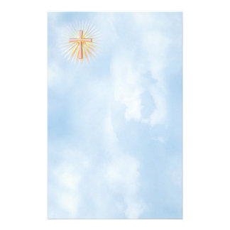 Papeterie Rayons de lumière de la croix religieuse