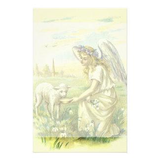 Papeterie Religion vintage, ange victorien de Pâques avec