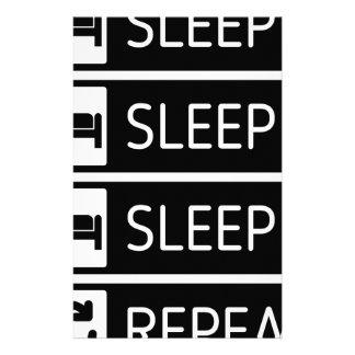 Papeterie Répétition de sommeil de sommeil de sommeil