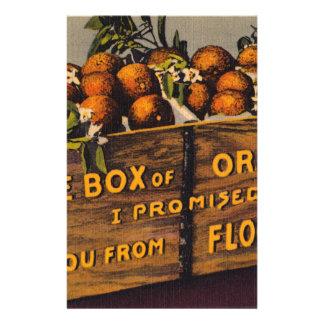 Papeterie Rétros oranges vintages de la Floride