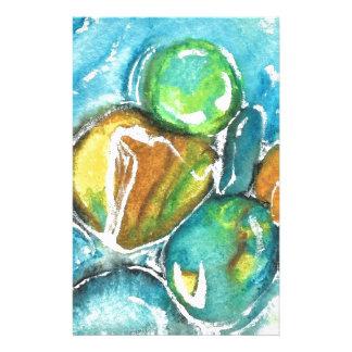 Papeterie Roches de rivière d'aquarelle