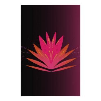 Papeterie Rose de Lotus sur le noir