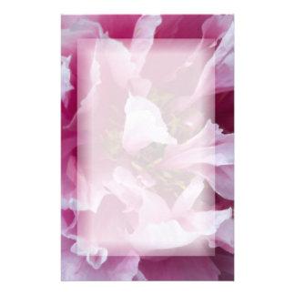 Papeterie rose de pivoine