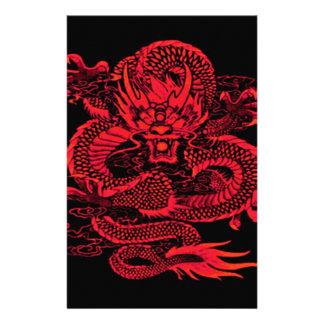 Papeterie Rouge épique de dragon