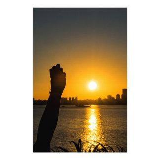 Papeterie Scène de paysage urbain de coucher du soleil,