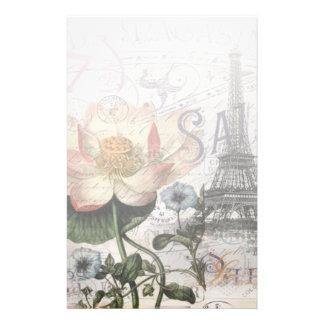 Papeterie scripts Tour Eiffel botanique français de Paris de