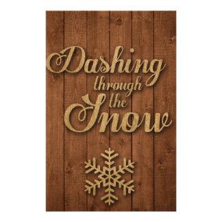 Papeterie Se précipiter par la neige