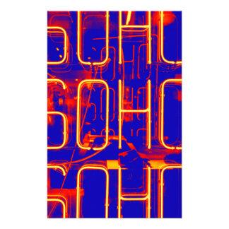 Papeterie Signe au néon de Soho illuminé à Londres