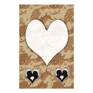 Papeterie Silhouette des baisers de couples (coeur de