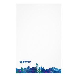 Papeterie Silhouette d'horizon de Seattle
