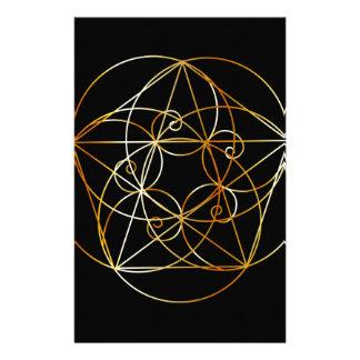 Papeterie Spirale de Fibonacci la géométrie sacrée