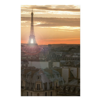 Papeterie Sunset on the Eiffel tower, Paris, France