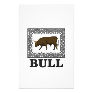 Papeterie taureau brun encadré