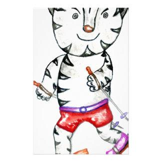 Papeterie Tigre blanc sportif