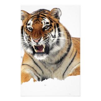 Papeterie Tigre dans la neige