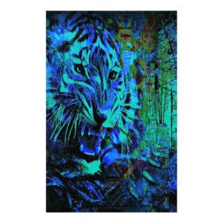 Papeterie Tigre de bleu de fureur