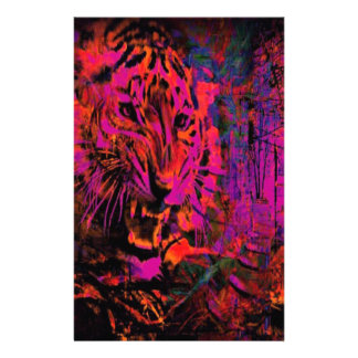 Papeterie Tigre de rouge de fureur