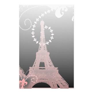 Papeterie Tour Eiffel noir et rose chic girly de Paris