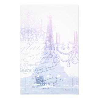 Papeterie Tour Eiffel pourpre français chic de Paris de